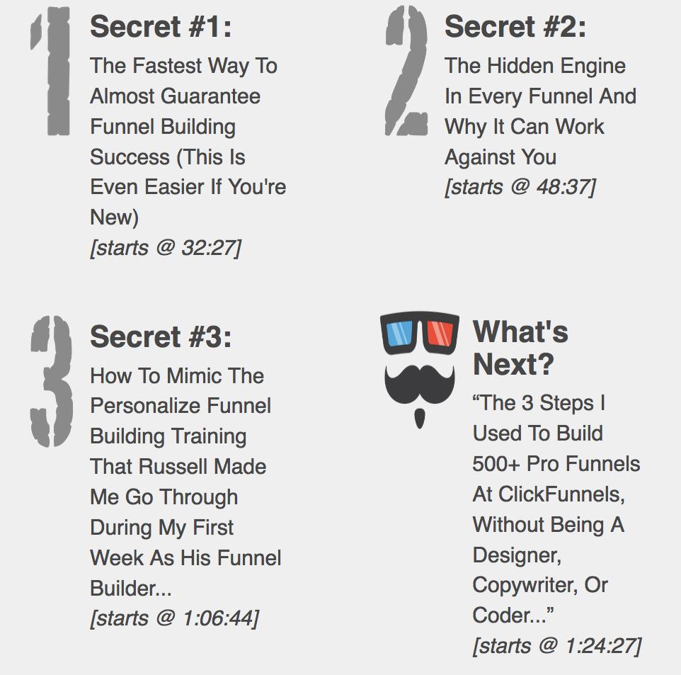 My Funnel Stache 3 Secrets