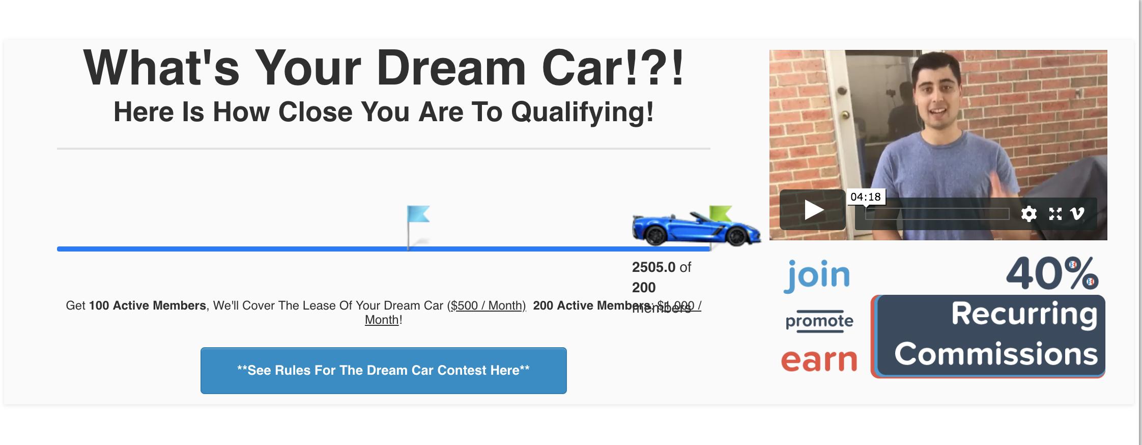 Spencer Mecham ClickFunnels Dream Car Winner