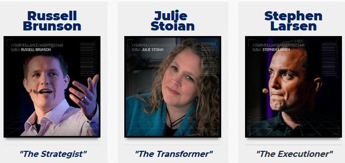 Julie Stoian, Steve Larsen, and Russell Brunson