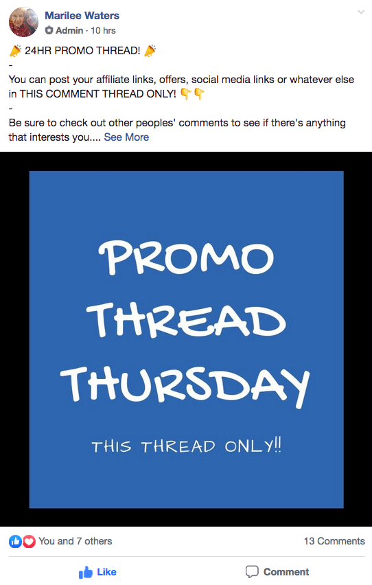 facebook Promo Thread Thursday