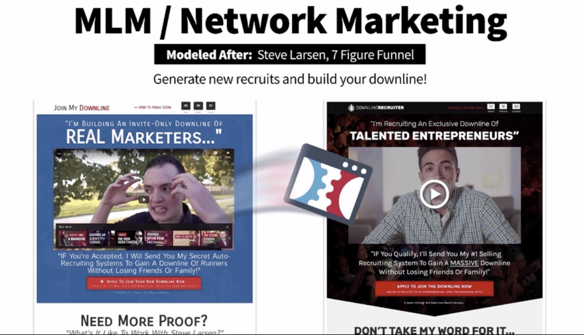MLM Network Marketing funnel hacked