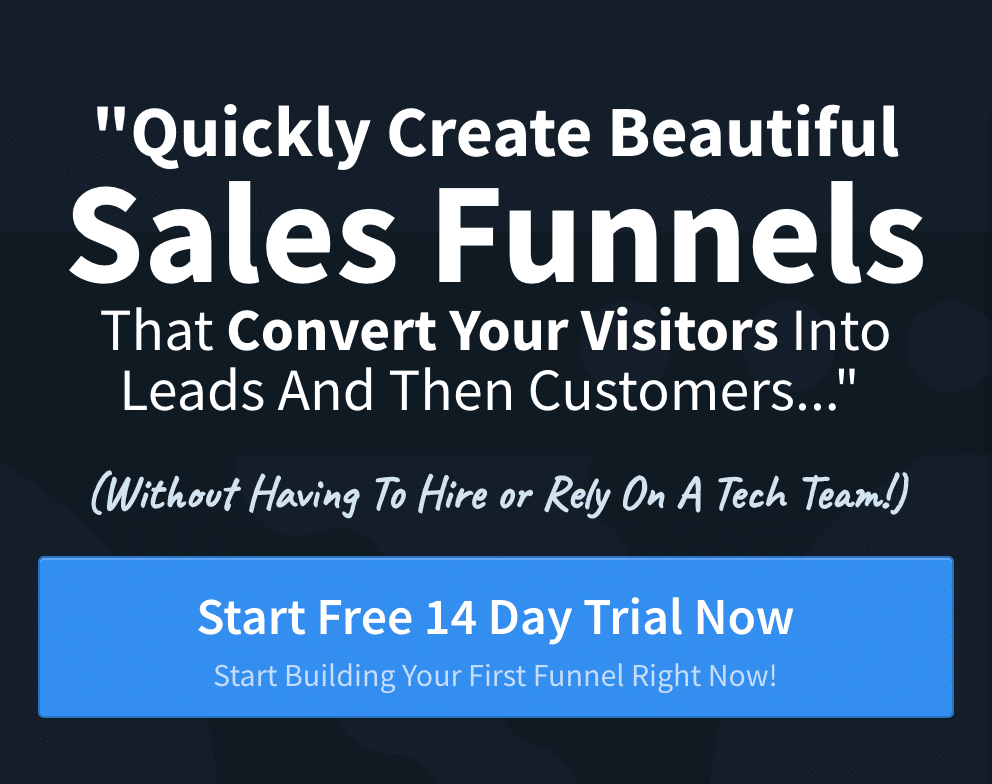 create sales funnels drag and drop software