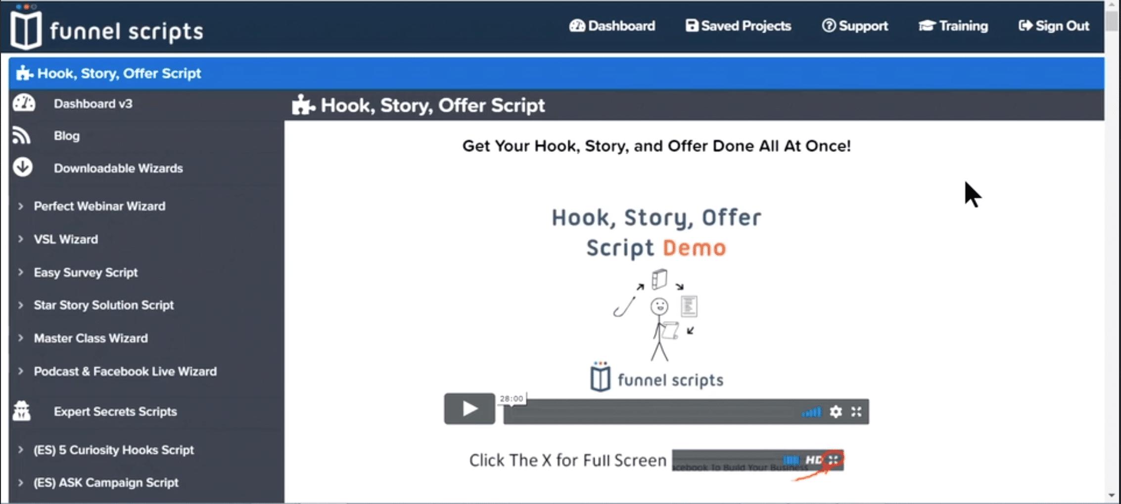 funnel scripts dashboard