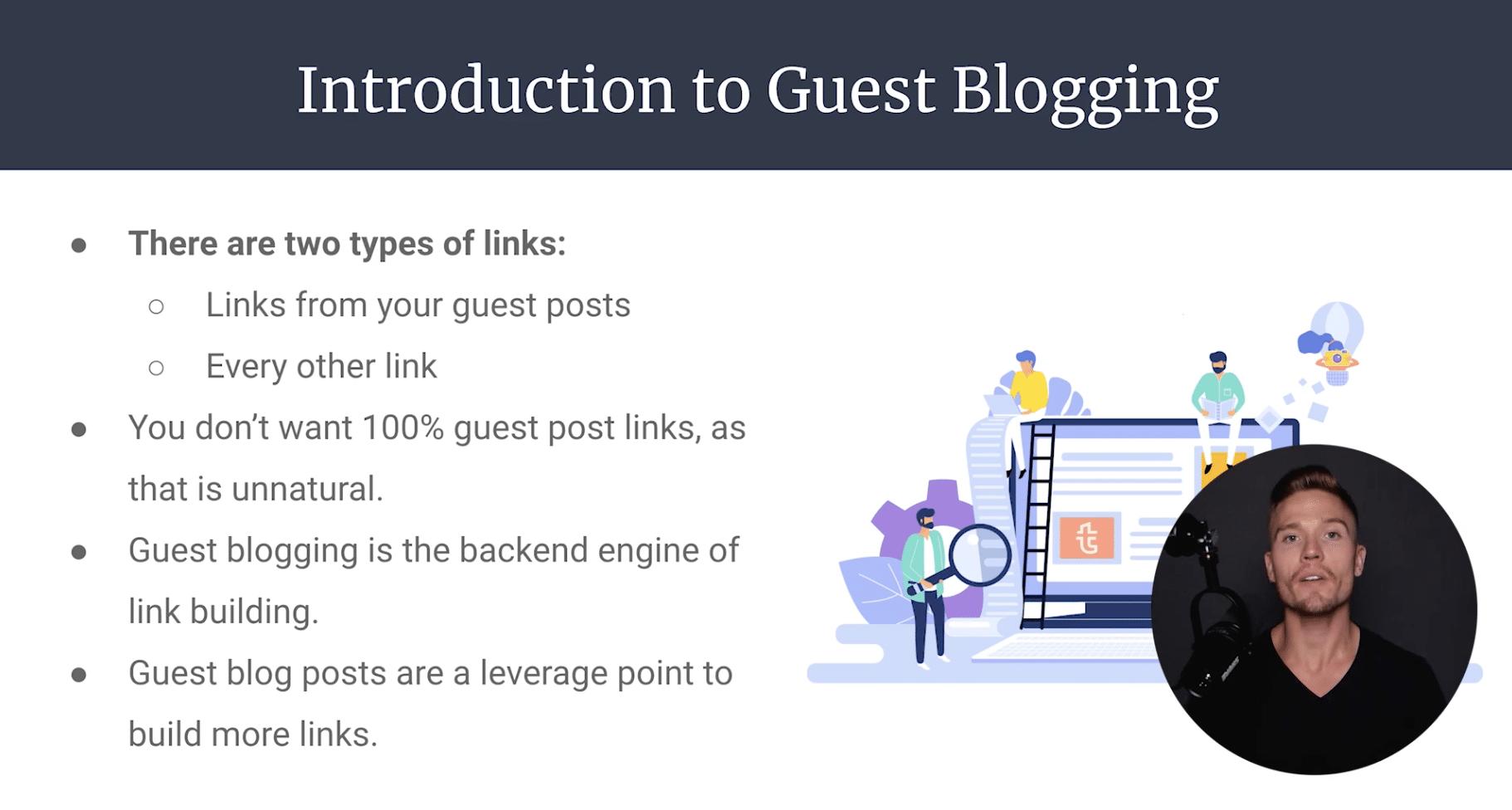 screen shot of BGE blogging course